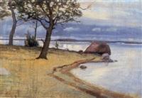 saunaseuras strand, drumsö by werner von hausen