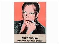 portrait willy brandt by andy warhol