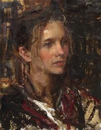 portrait of a young woman by dan gerhartz