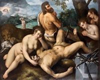 adam et eve pleurant la mort d'abel by frans floris the elder
