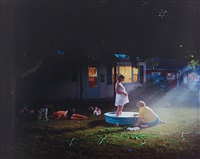 untitled (pregnant woman/ pool), 1999 from twilight by gregory crewdson