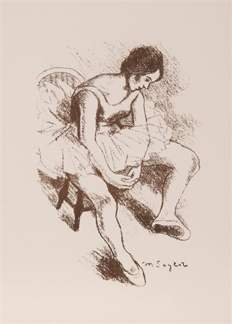 seated dancer by moses soyer
