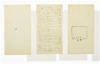 untitled (triptych) by mira schendel