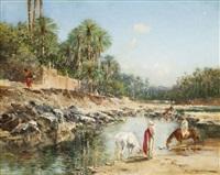 cavaliers à l'oasis by victor pierre huguet