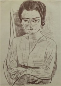 portrait of mrs. h.m. by max beckmann