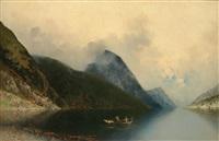 fjord landscape by georg anton rasmussen