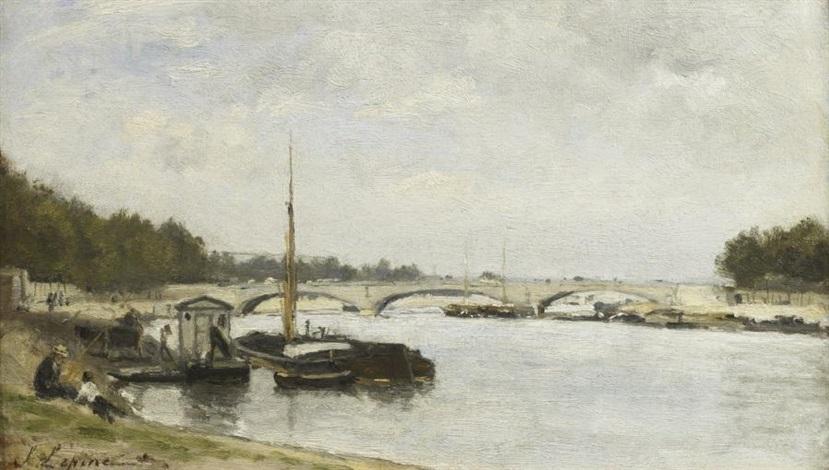 la seine au pont de lalma by stanislas lépine