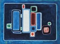 indigo blue by françoise gilot