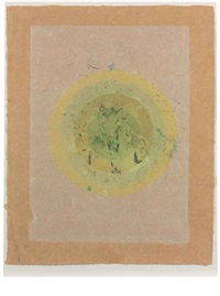 circle i, ii-7 (from handmade paper project) by kenneth noland
