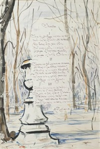 illustration d'un poème de pierre garnier by takanori oguiss