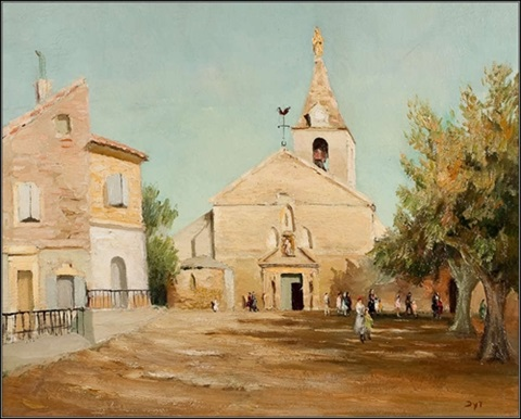 eglise de la major en arles by marcel dyf