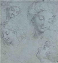 women and young men (study) by michel corneille the younger