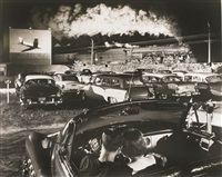 hot shot, eastbound at the iager drive-in, west virginia by o. winston link