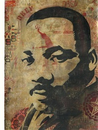 mlk - martin luther king by shepard fairey