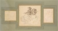 cavalier en armure sur un cheval se cabrant by théodore géricault
