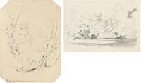 rocks on the wharfe (+ house; 2 works) by john ruskin