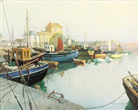 mevagissey harbor by vernon ward