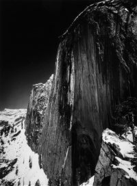 monolith, the face of half dome, yosemite valley, california, 1927 by ansel adams