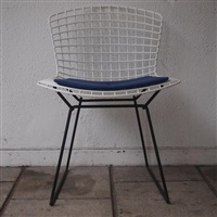 4 chaises, modèle whyre (set of 4) by harry bertoia