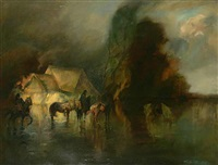 riders in a storm by adolf j. (jelinek) alex