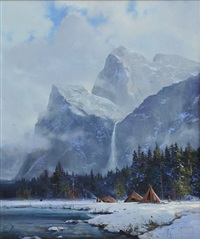 yosemite camp by thomas kinkade
