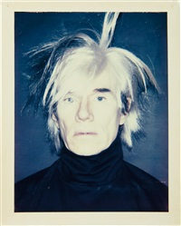 self-portrait (in fright wig) by andy warhol