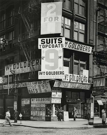 goldbergs store new york by berenice abbott