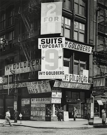 goldbergs store new york by berenice abbott