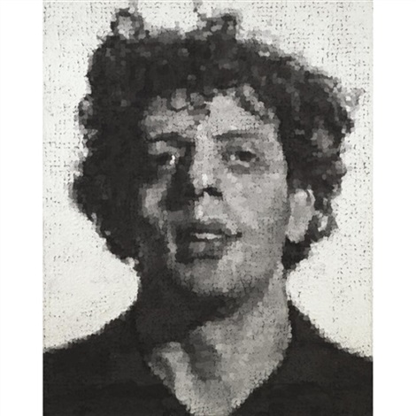 phil portrait of philip glass by chuck close