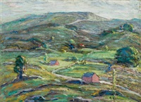 connecticut hillside by ernest lawson