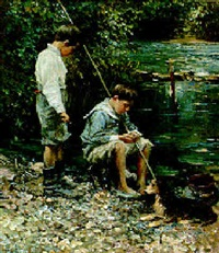 dos jovenes pescadores by mikhaïl avilov