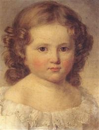 portrait de cécile cazot à l'âge de vingt-huit mois by auguste françois laby