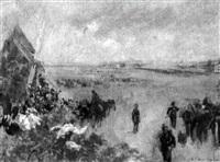 défilé militaire devant le moulin by louis raoul arus
