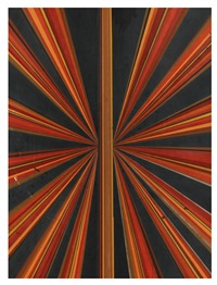untitled (red orange brown black butterfly 560) by mark grotjahn