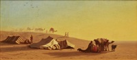 a halt in the desert by charles théodore (frère bey) frère