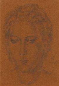portrait de femme by léonard tsuguharu foujita