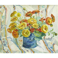 still life (marigolds) by edith grace coombs