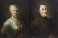 muotokuvapari (pair of portraits) by isak wacklin