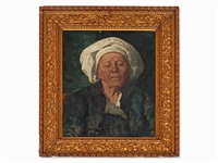 portrait of a peasant woman by wilhelm maria hubertus leibl