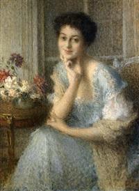 portrait de femme - élise by ernest joseph laurent