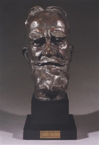 portrait bust of george bernard shaw by sava botzaris