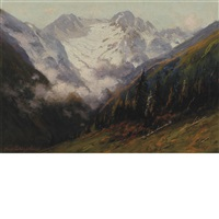 mountain scene by charles partridge adams