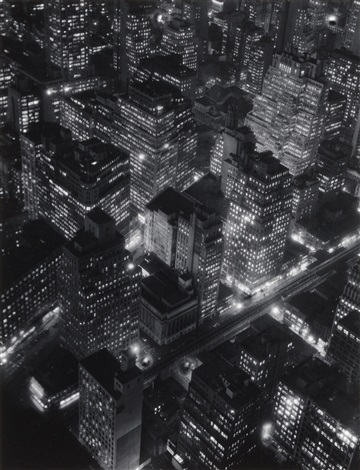 night view new york by berenice abbott