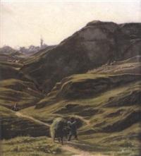 scène paysanne dans un vallon by georges de lafage-laujol