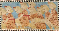 christmas seal girls by henry darger