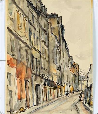 rue herse au balcon by takanori oguiss