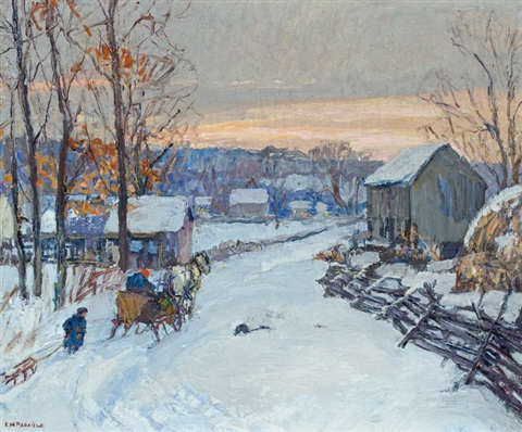 sleigh days by edward willis redfield