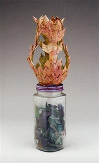 untitled (jar of glass arrowheads) by eugene von bruenchenhein