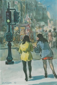 2 girls in the village by clyde singer