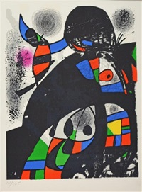 untitled (san lazzaro et ses amis) by joan miró